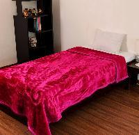 Mink Single Bed Floral Embossed Pink Blanket