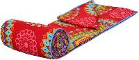 Red Floral Print  Soft and Warm Micro Single Bed Blanket