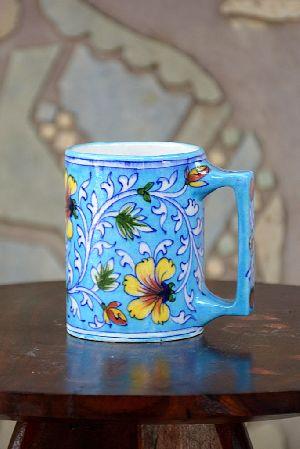 Blue Pottery Coffee Mug