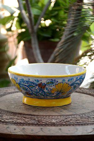 Blue Pottery Serving Bowl