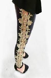 Designer Embroidered Leggings