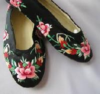 Silk Embroidered Footwear