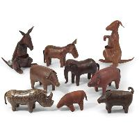 Handcrafted Leather Animals