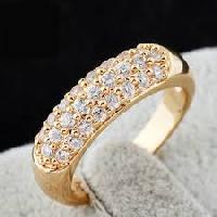 Diamond Studded Gold Rings
