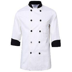 Contrast Collar Chef Coat