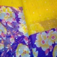 Thread & Chamki Work Chiffon Sarees