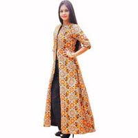 Hand Embroidered Indo Western Dress