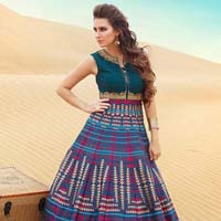 Patel Marketers  Royal Blue Bhagalpuri Stitched Salwar Suit 32
