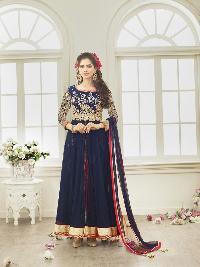 Patel Marketers  Royal Blue Soft Net Desiner  Salwar Suit Pm-18
