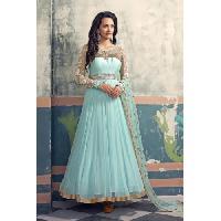 Patel Marketers  Royal Light Blue Georgette Desiner Salwar Suit Pm-20