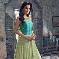Patel Marketers Royal Light Green Georgette Salwar Suit Pm-64