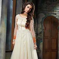 Patel Marketers  Royal Off White Soft Net Desiner Salwar Suit Pm-6