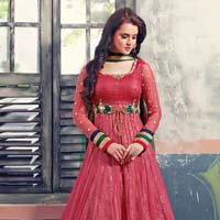 Patel Marketers  Royal Onion Pink Soft Net Desiner Salwar Suit Pm-21