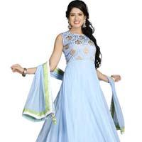 Patel Marketers  Royal Sky Blue Net Desiner Salwar Suit Set Pm-58