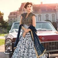 Patel Marketers  Royal White & Black Juth Cotton Salwar Suit Pm-60