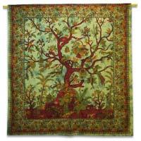 Tree Printed Tapestry