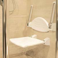 Shower Seat With Armrest & Back Rest - Folding Type