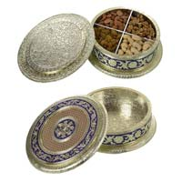 Round Dry Fruit Box Germen With 4 Partition Hp-wm-523