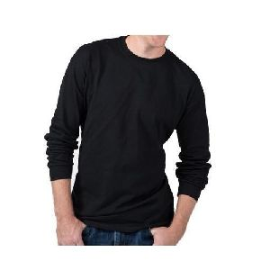 Mens Plain Full Sleeve Round Neck T-shirts