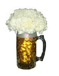 Flowers Beer Mug