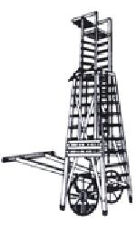 Square Telescopic Tower Ladder ( M.s. Wheel ) (model No. 17):-