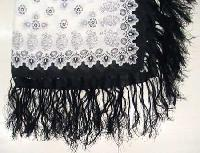 Knotted Fringe Scarf (Rayon Thread)
