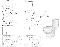 Water Closet (Two Peice Toilet)