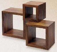 Sheesham Wood Cube Shelf