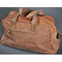 Antique Leather Duffle Bag
