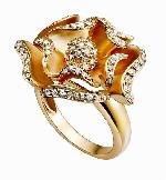 Ring With Blooming Rose (er678r)