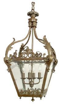 Antique Brass Lantern Chandelier