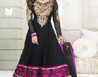 Black Anarkali Churidar Salwar Kameez