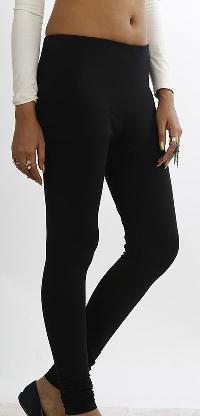 Women Black Solid Leggings