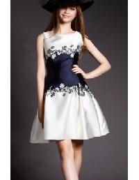 Floral Sleeveless Vintage Dress
