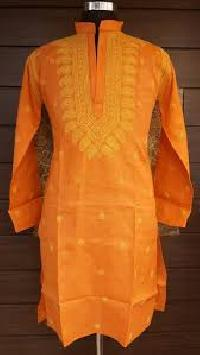 lucknowi chikan embroidered gents kurta