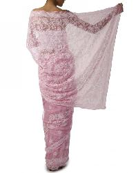 Lucknowi Chikan Embroidered Saree