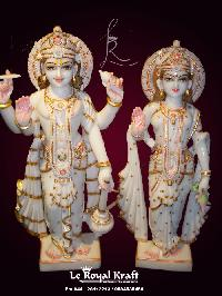White Marble Laxmi Narayan Statues