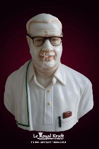 White Marble Man Bust