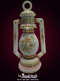 White Marble Inlay Lanterns