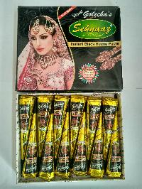 Golecha Sehnaaz Instant Henna Paste Cone (black Color)