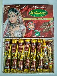 Golecha Sehnaaz Instant Henna Paste Cone (golden Color)