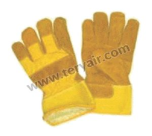 Vinyl Leather Winter Gloves