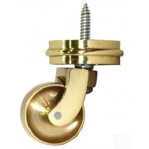 Brass Screw Castor With Round Embellisher