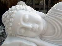 White Marble Stone Statues