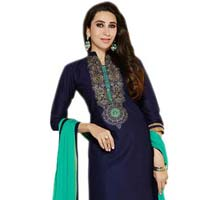 Awesome Dark Blue Rama  Color Chanderi Salwar Suit