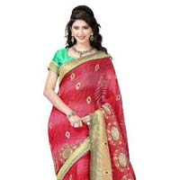 Designer Pink Color  Torre Brasso Saree