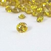 Single Cut Fancy Yellow Diamonds