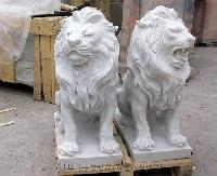 Marble Lion Statues