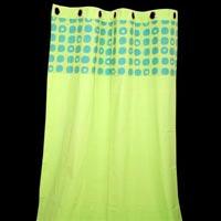 Green Cotton Designer Curtain