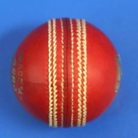 BDM Red Leather Cricket Balls